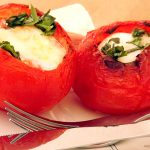 Breakfast: Eggs in Tomato Nests