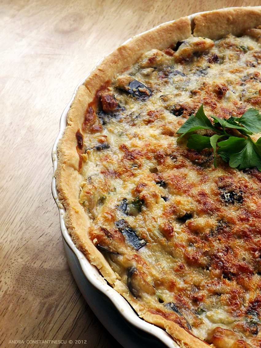 aubergine-and-parmesan-tart-recipe