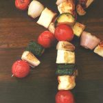 Summer recipes: halloumi kebabs with summer veggies