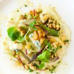 Pear Carpaccio with Gorgonzola & Walnuts
