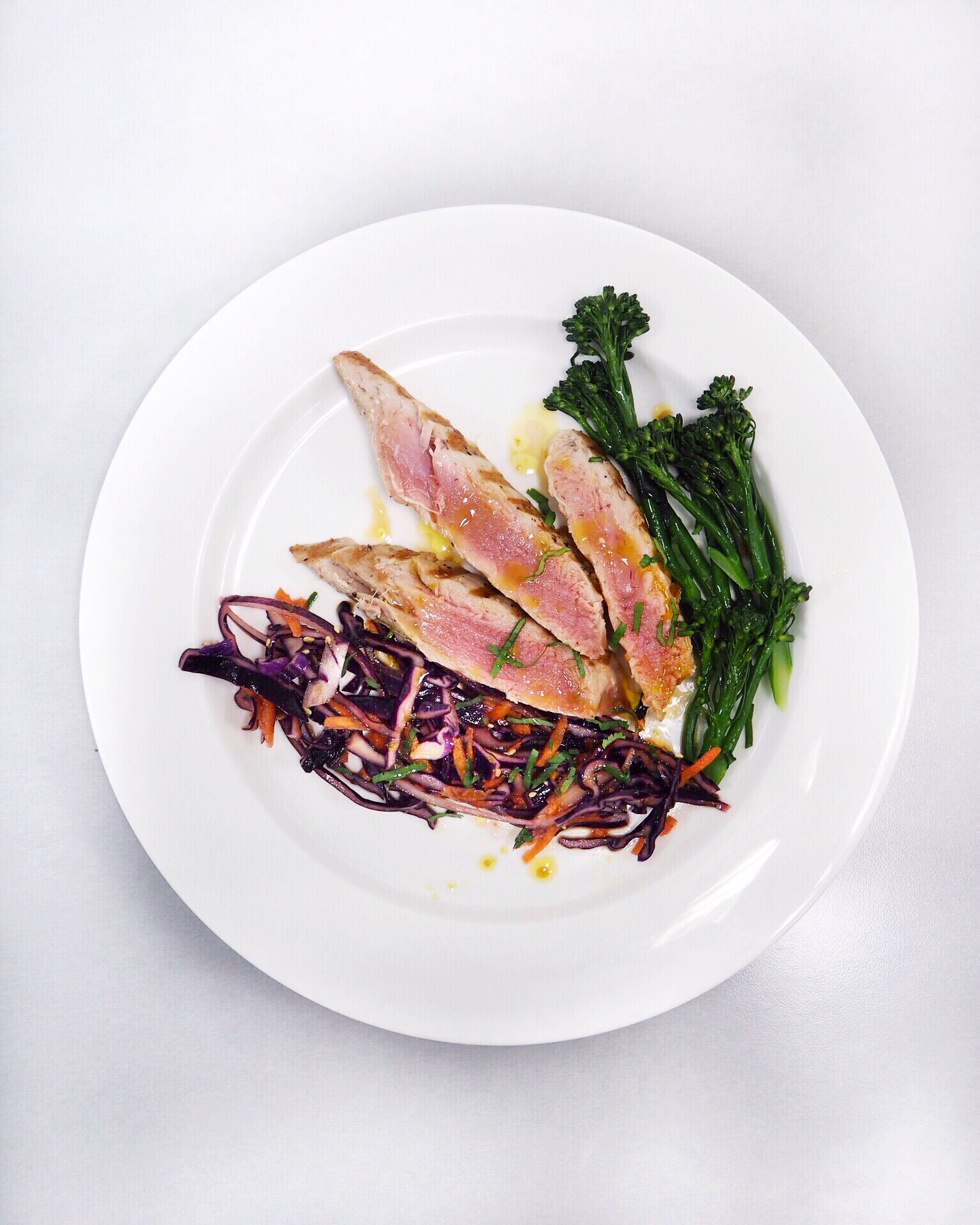 Grilled tuna steak cooked by Andra Constantinescu